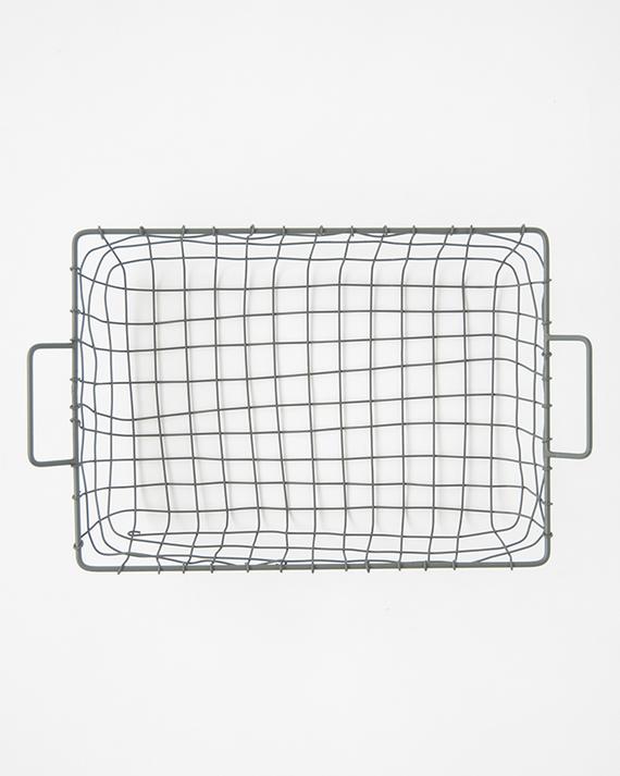 FOG LINEN WORK(フォグリネンワーク)   トレイバスケット(グレー)