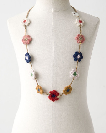 OEUF DAISY CHAIN NECKLACE デイジーネックレス(0999 ホワイト×グリーン)